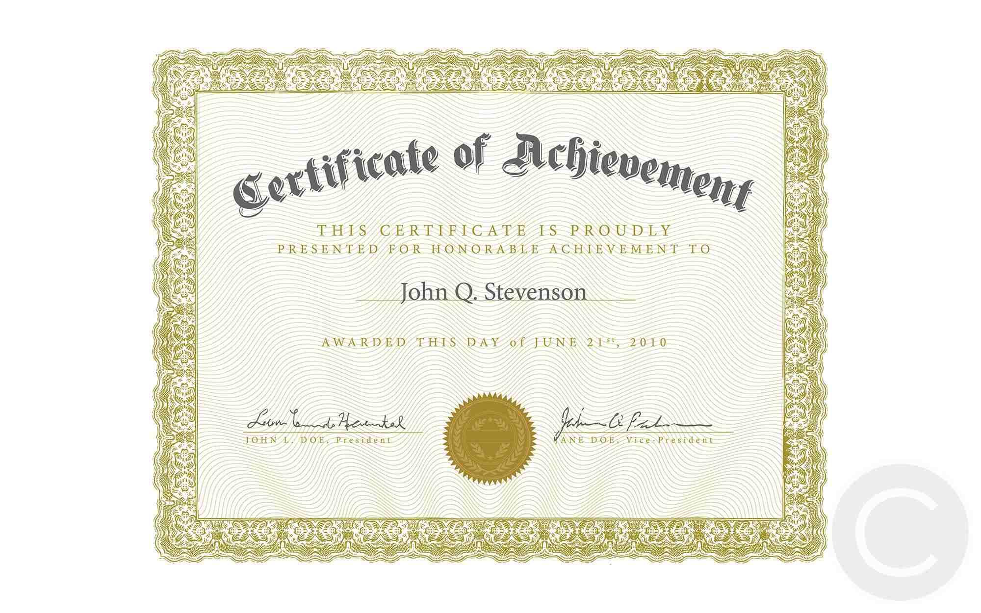 Vector Ornate Certificate Template